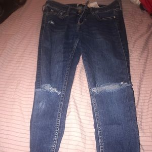 Hollister Blue ripped jeans Small